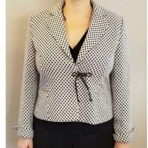 Bloomingdale's Jacket Black White Blazer Sz 12